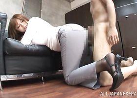 Ravishing Ramu Hoshino gives mate an unforgettable blowjob