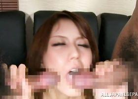 Shameless oriental bombshell gets her poon tang drilled hard