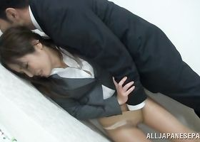 Naughty Minami Asano knows how to suck a fat pecker